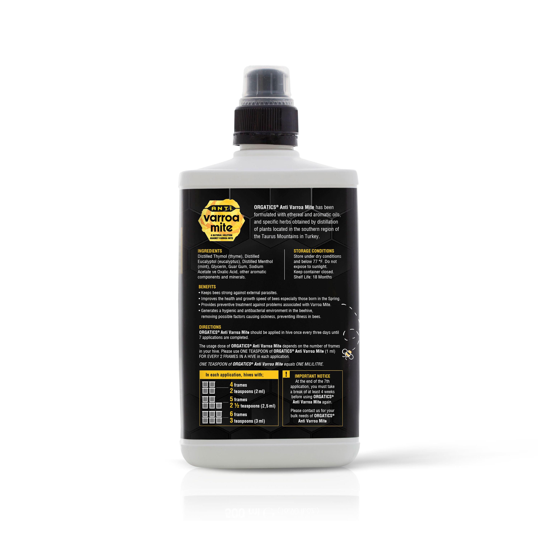 ORGATICS Anti Varroa Mite - 500 ml (Back)
