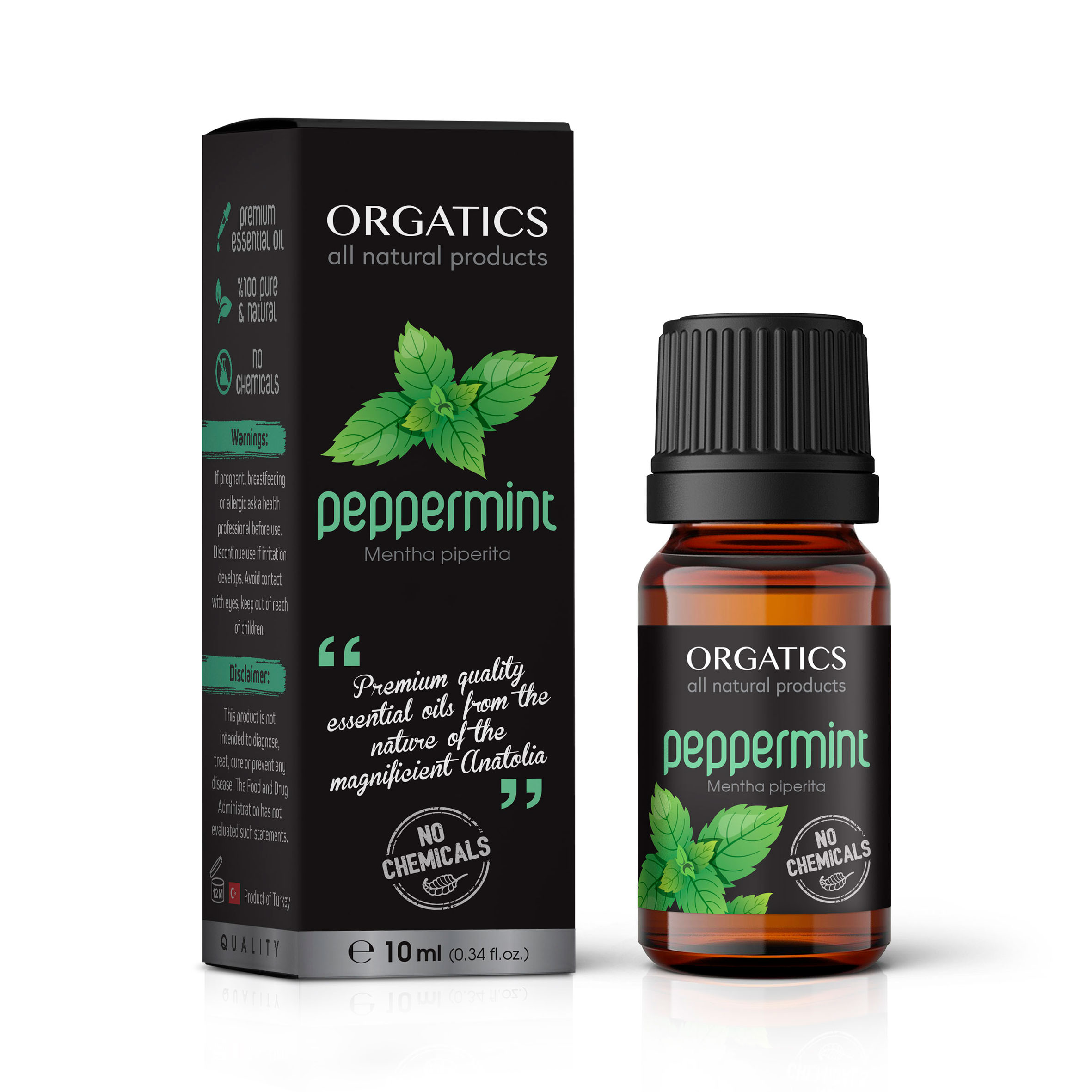 ORGATICS Peppermint Oil Bottle with Box